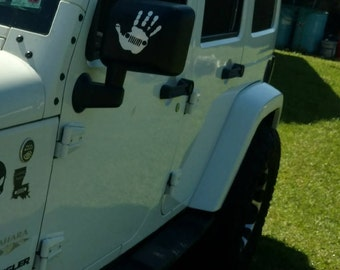 Jeep Wave Mirror Decal