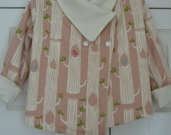 Reversible Organic Cotton jersey Girls Coat SALE