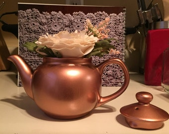Copper Tea Pot Centerpieces