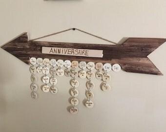 Calendar anniversary / birthday calendar