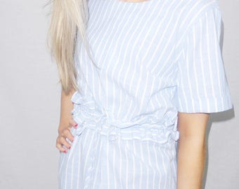 Baby Blue Striped Dress
