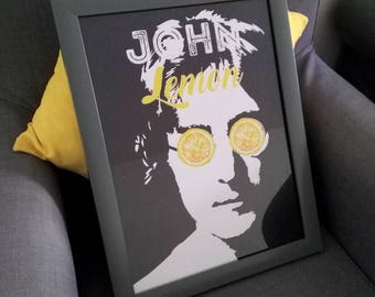 Quirky decorative poster John Lemon