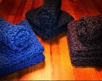 3 Custom Homemade Crochet Cotton Washcloth, Dishcloth, Napkin