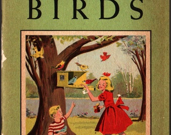 Fun With Birds - National Audubon Society - 1953 - Vintage Kids Book