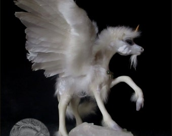 Unicorn Art Doll Winged Horse Collectible