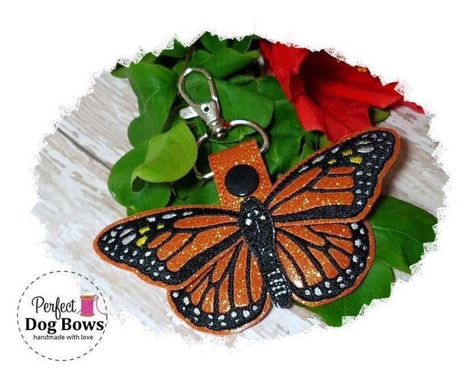 Monarch Butterfly, Butterfly Key Fob, Butterfly Key Chain, Butterfly Zipper Pull