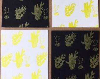 A2 - Art Post Card Set X 4 - Cactus Assortment