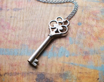 Authentic Antique Victorian Key Necklace // New Year Sale - 15% OFF - Coupon Code SAVE15