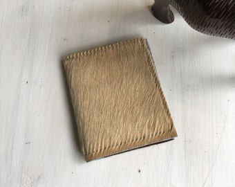 Wallet—Hair-On Leather in Ecru