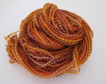 Hand spun 2ply wool dk weight 76 yds Harvest