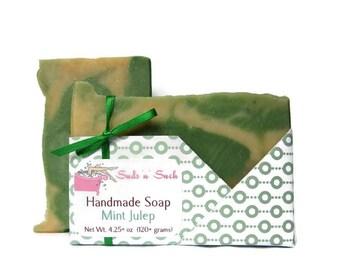 Mint Julep Handmade Bourbon Soap - Made in Kentucky