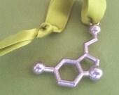 serotonin molecule holiday ornament