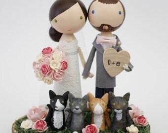 custom wedding cake topper - order for - LBHC435