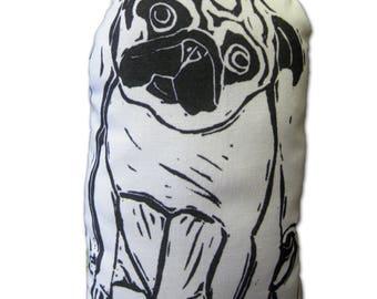 Pug Art Doll - Fiber Art - Archie
