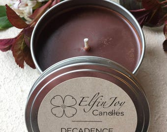 Chocolate Fudge DECADENCE Soy Container Candle