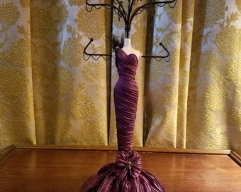 Jewelry Earring Holder Display Dress Form Mannequin Purple