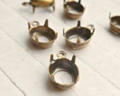 Brass 10x8mm Oval 1 Ring Settings  (58-1-12)