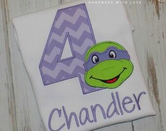 Girl Ninja Turtle Birthday Shirt, Boy Ninja Turtle Shirt, Boys Birthday shirt, Girls Birthday shirt, sew cute creations