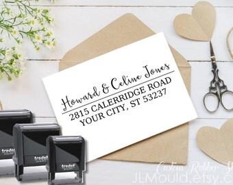 0409 Self Inking JLMould Modern Family Custom Personalized Rubber Stamp Return Address  Wedding Stamper Choose Ink Color