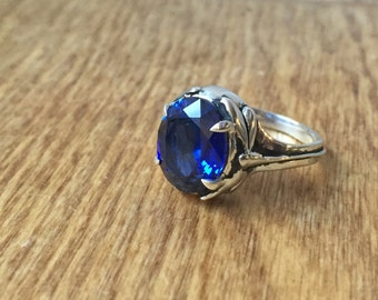 Damselfly and Dragonfly Ring- Sapphire and Sterling