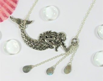 Mermaid Tears Themed Labradorite Necklace