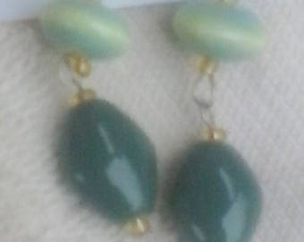 Green Drops Earrings