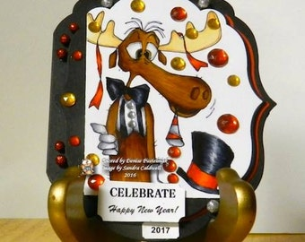 1288 New Years Bullwinkle Digi Stamp