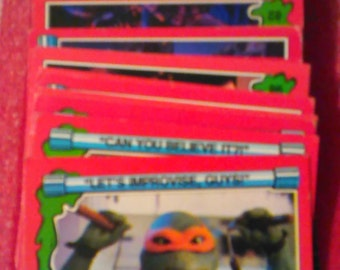 TMNT Trading Cards Vintage 1991 Teenage Mutant Ninja Turtles II The Secret of the Ooze Trading Cards Lot of 43 Free Shipping