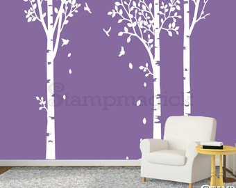 Birch Trees Wall Decal - Birch Trees Decal - home decor vinyl art sticker - K109