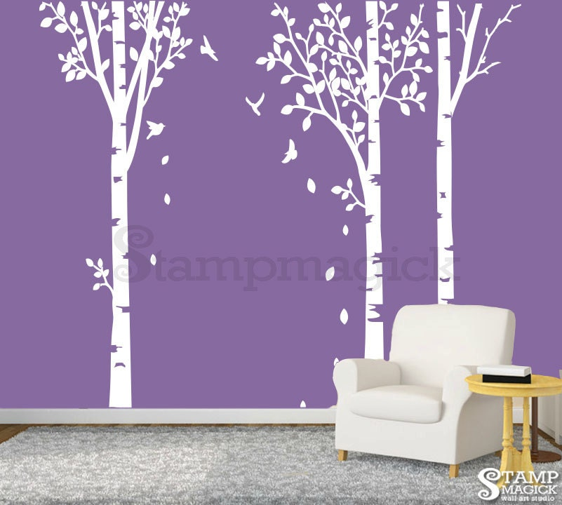 Birch Trees Wall Decal Birch Trees Decal Home Decor Vinyl