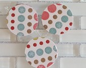 """Snowflakes and Polka Dots 1.5"""" Sticker Set or Envelope Seal Stickers"""