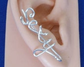 Ear Climbers Personalized Handmade  (pair) ANY Word Customized .Sterling Silver 925, 14K gold Filled,14K Rose Gold fill. Gift under 20