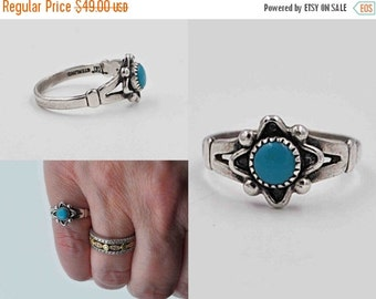 Vintage Sterling Silver & Turquoise Ring, Bell Trading Post, Native American, Navajo, Southwestern, Size 5 3/4, Gorgeous! #b765