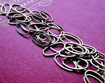 8x16mm brass oval hoops - 50 pieces - destash