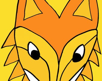 cute fox  Art Print by Giraffes and Robots