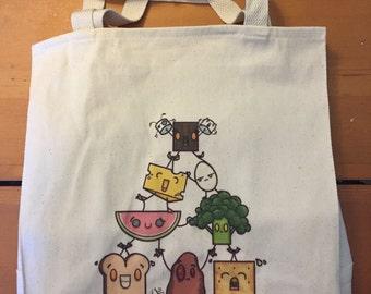 Food Pyramid Canvas Bag
