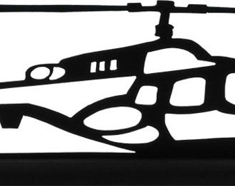 Helicopter Bell 222  Handmade Display Silhouette Decoration   strf007