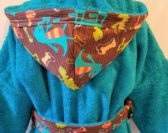 Boys-Bath-Robes-Boy-Robe-Dinosaurs-Dinosaur-Beach-Hooded-Terry-Towels-Swim-Suit-Cover Up-Shower-Birthday-Holiday-Baby-Kids-Gifts-Kid-Gift-