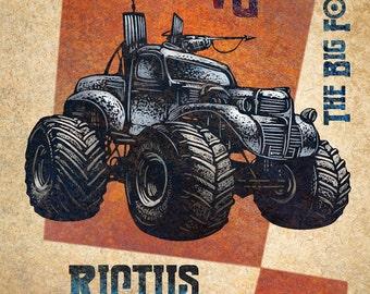 "Rictus Brand Matchbox Art- 5"" x 7"" matted signed print"