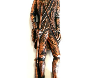 Coppercraft Guild Colonial Soldier Wall Plaque by Dart Industries 1971