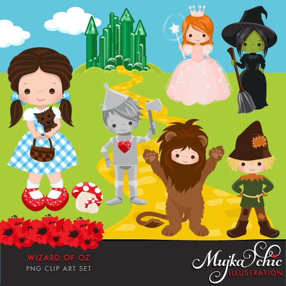 Wizard of Oz Clipart. Dorothy Tin man Scarecrow Cowardly