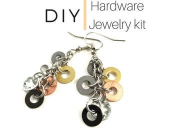Earring Jewelry Kit DIY Mixed Metal Hardware Jewelry