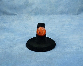 Encapsulated Heart Specimen Ring, Handmade Biology Jewelry