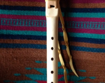 F-Sharp Minor Native American Style Flute in Pine and Cherry