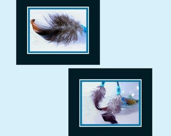 Grey Feathers Photos, Boho Feather Art, Feathers Wall Art, Feathers Art Prints, Two Feathers Photos, Feathers with Beads, Wall Art Photos
