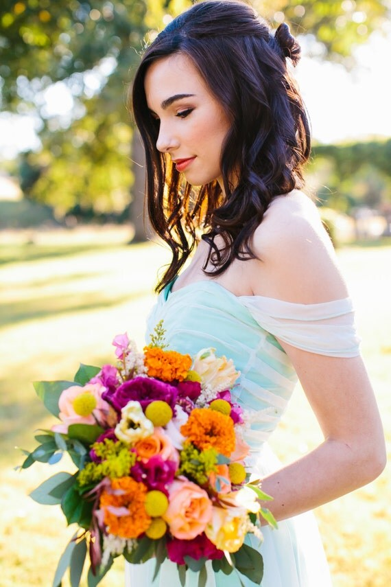 Ariel, Mermaid Bridesmaid, Siren Seafoam Dress, Formal Gown, Evening Dress, Mint