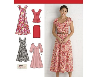 Misses and Plus Size Dresses, Top and Skirt - Simplicity 2917 Sewing Pattern - US Sizes  10 -18 or 20w -28w summer dresses