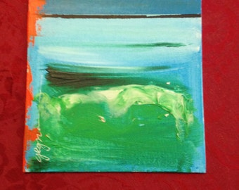 Abstract Painting on Artist Canvas Board