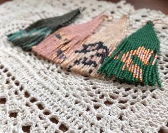 1 Pair Left! Original Handmadewarrior Designs Stellar Dust Trails Bead Earrings