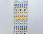 Cute Japanese Food Stickers From Japan - Rice Bowl, Miso Soup, Salmon, Green Tea, Chopsticks, Soy Sauce, Ramen Noodles, Tamagoyaki Omelette
